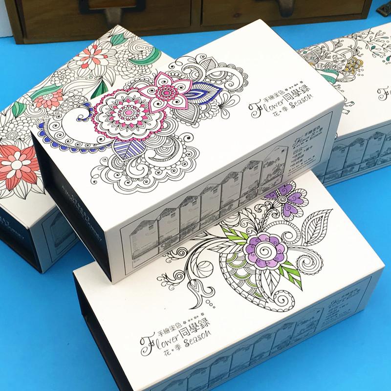 唯美 秘密花园/韩版唯美星空秘密花园个性毕业信封式纪念册创意活页铁盒装同学...