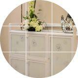简易组装铝合金厨房碗柜橱柜餐边柜微波炉储藏柜架储物收纳柜包邮