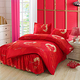 床裙式四件套床罩磨毛1.5m1.8米床上用品韩版4件套包邮