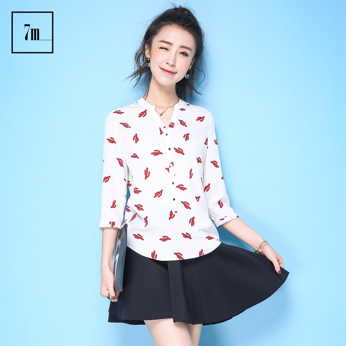 拉夏贝尔雪纺衫2014
