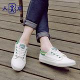 人本明星同款小白鞋休闲帆布鞋女鞋子韩版学生球鞋平底情侣板鞋潮