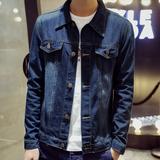 男士夹克春季2016新款韩版修身薄款牛仔外套青少年男装休闲春装潮