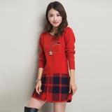 秋冬款低领女式毛衣冬季加厚中长款针织衫打底衫长袖女套头羊毛衫