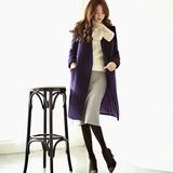 中长款毛呢外套韩国2015秋冬新款 双面羊绒大衣女高端修身显瘦潮
