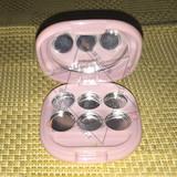 六色 6色 方形 唇膏/眼影/腮红/高光盒 空盒 空盘 DIY分装压盘