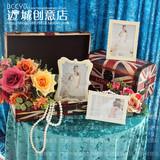 简约时尚水钻相框摆台影楼婚纱摄影道具签到台布置桌面装饰