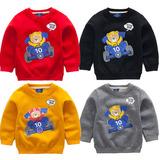 儿童加绒卫衣童装2016春装新款韩国小熊长袖T恤男童休闲服套头衫