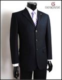2016西装套装男士西服商务正装三扣黑色修身工作服职业装新郎礼服