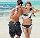 韩国代购性感情侣游泳衣2016bikini显瘦大小胸泳装沙滩女海边度假