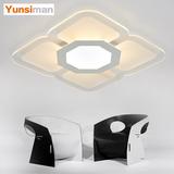超薄时尚简约现代正方形客厅卧室书房餐厅吸顶灯创意温馨灯具