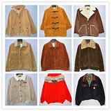 古着vintage 欧美时尚 男装简约保暖 毛里加厚灯芯绒夹克外套
