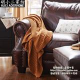 纯色简约麻花毛线针织毯子全棉盖毯外贸纯棉多功能空调被毯子包邮