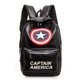 包邮美国队长盾牌双肩包背包双肩包男女学生包情侣背包pu休闲包