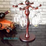 红酒杯架高脚杯架倒挂悬挂实木质创意欧式酒柜吧台酒架摆件 送礼