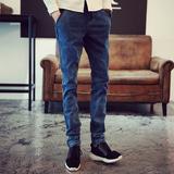 冬季牛仔裤男士直筒宽松加肥加大码长裤子韩版休闲青少年时尚男装