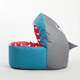 懒人沙发儿童可爱卡通布艺单人创意鲨鱼小豆袋宝宝榻榻米座椅子床