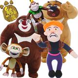正版熊出没毛绒玩具熊大熊二光头强公仔吉吉毛毛布娃玩偶儿童礼品