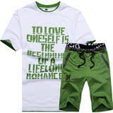 运动套装 男 短袖T恤2016夏季新品男士休闲套装情侣跑步运动服潮