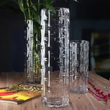 透明玻璃花瓶特大号富贵竹50厘米落地花瓶百合水培加厚水晶客厅摆