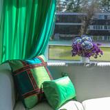 美物特原创设计高档东南亚风情双层雪纺纱帘客厅餐厅书房窗帘窗纱