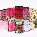 石家庄鲜花速递同城配送红粉白蓝香槟玫瑰花礼盒送女友11 33 99朵