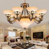 现代欧式客厅吊灯餐厅复古灯具新中式灯饰仿云石酒店会所大厅灯饰