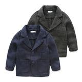 男童毛呢小西装 春装新款童装2015韩版儿童绅士外套 宝贝帅气衣服