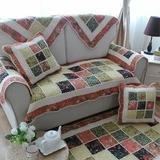 纯棉布艺组合沙发垫田园时尚防滑沙发坐垫沙发巾沙发套拼布垫子
