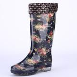 包邮韩国女高筒雨靴水晶胶鞋防水防滑果冻雨鞋加绒送棉套保暖冬季