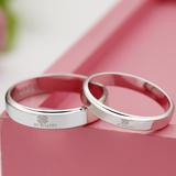 关于爱925银戒指女四叶草指环情侣戒指男情侣对戒子银指环