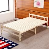 特价折叠床单人1米双人1.2米实木床木板床儿童床陪护床加厚午休床