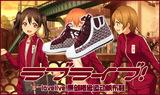 动漫cos 游戏lovelive 偶像团体μ's 运动鞋 高帮板鞋帆布