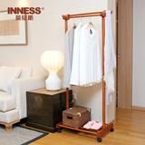 英尼斯 进口宜家实木衣帽架落地 卧室客厅挂衣架时尚创意移动衣架
