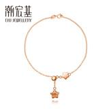潮宏基珠宝 Kiyomi清美系列幸运之星 红18k金玫瑰金可调节手链