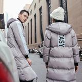 韩版情侣中长款羽绒棉棉衣加厚男女学生潮班服青年棉服外套冬季装