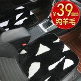 澳奴羊秋冬季纯羊毛免绑座椅垫短毛汽车坐垫无靠背三件套单片用品