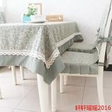 简约桌布布艺餐桌布椅套椅垫套装椅子套台布包邮 美式乡村