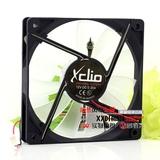 XCLIO 12V 0.35A 12018 12CM 透明叶子 带led灯 超薄机箱散热风扇