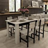 包邮厂家直销现代简约时尚餐桌椅子组合6人实木长方形饭馆小户型