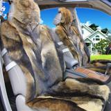 新款秋冬季汽车坐垫狼毛坐垫非洲纯狼皮整张皮真皮毛不掉毛座垫