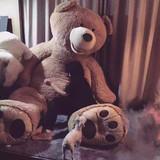 陈乔恩同款美国大熊公仔超大2.6米泰迪熊毛绒玩具巨型抱抱熊包邮