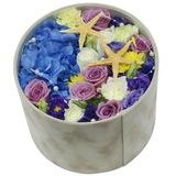 鲜花礼盒花盒白色情人节圣诞节生日上海同城鲜花速递花店玫瑰花