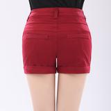 韩版短裤子女休闲裤女式夏装大码薄款裤子显瘦胖mm夏装西装短裤