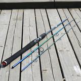 包邮正品 法莱直柄把路亚竿ML调全碳素插节2.1--3米渔具钓具