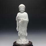 19寸德化陶瓷阿弥陀佛 西方三圣佛像白瓷上釉 宗教佛教用品包邮