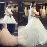 新款拖尾新娘婚纱礼服绑带显瘦胖mm加肥加大特大码定做婚纱晚礼服
