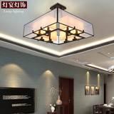 现代简约新中式吊灯客厅灯仿古铁艺中式灯具创意复古卧室餐厅灯饰
