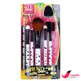 包邮 原木杆五件套刷 化妆工具 蜜粉刷/眉梳/眼影棒/眉刷/眼影刷
