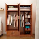 简易宜家实木质板式衣柜现代简约2门3门4门儿童卧室整体储物衣橱