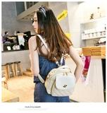 2016新款日韩潮流时尚女包小清新手提包单肩双肩菱格包女士三用包